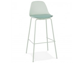 Tabouret de bar 'COOKIE' vert clair style industriel