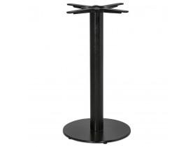 Pied de table rond 'CORTADO' 75 en métal noir intérieur/extérieur
