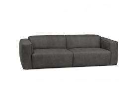 Canapé droit 'COYOT' gris foncé - canapé 3 places design