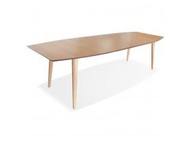 Table à dîner extensible 'CROKUS' en bois finition naturelle - 170-270x100 cm