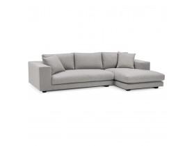 Canapé d'angle design 'DALTON L SHAPE' en tissu gris clair (angle à droite)