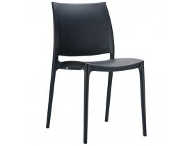 Chaise design 'ENZO' noire