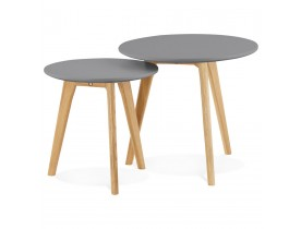 Tables gigognes ronde GABY grises foncees - Alterego