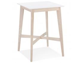 Table haute 'GALLINA' en bois blanc et finition naturelle
