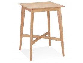 Table haute 'GALLINA' en bois finition naturelle