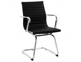 Chaise de bureau design GIGA en similicuir noir - Alterego