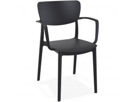 Chaise avec accoudoirs 'GRANPA' en matière plastique noire