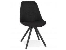 Chaise moderne 'HIPHOP' en tissu et bois noir