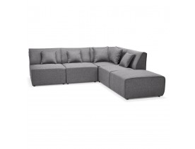 Canape d'angle modulable INFINITY COMBI gris clair - Alterego