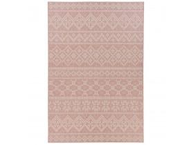 Tapis design 'INVADER' rose avec motifs - 160x230 cm