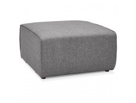 Element pouf de canape modulable INFINITY ONE gris clair - Alterego