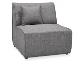 Element 1 place de canape modulable INFINITY SEAT gris clair - Photo 1