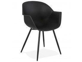 Chaise à accoudoirs 'KELLY' noire design