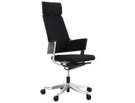 Fauteuil de bureau ergonomique 'KLUB' en tissu noir