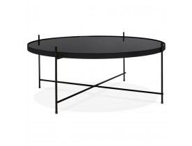 Table basse de salon 'KOLOS BIG' noire
