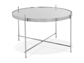 Table basse 'KOLOS MEDIUM' couleur chrome