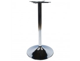 Pied de table 'KROMO' 110 en métal chromé