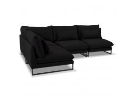 Canapé d'angle design 'LASKA ANGLE' en tissu noir