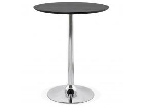 Mange-debout / table haute 'LIMA' noire - Ø 90 cm