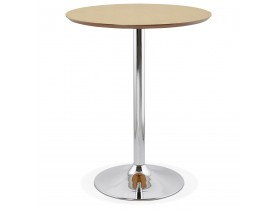 Mange-debout / table haute 'LIMA' en bois finition naturelle - Ø 90 cm