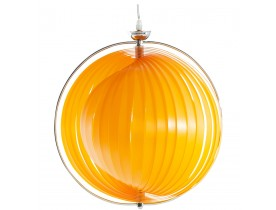 Suspension boule design 'LISA' en lamelles flexibles orange