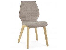 Chaise design LINDA en tissu style scandinave - Alterego