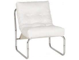 Fauteuil lounge 'LOFT' blanc