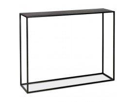 Table console style industriel 'LOLITA' en métal noir