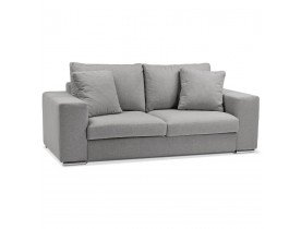 Canapé droit moderne 'LUCA MEDIUM' en tissu gris clair - Canapé 2 places