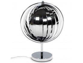 Lampe de table à poser 'LUNA' à lamelles en métal