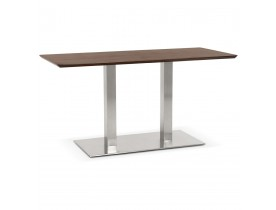 Table / bureau design 'MAMBO' en bois finition Noyer - 150x70 cm