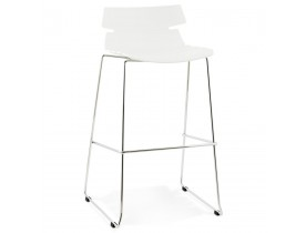 Tabouret haut 'MARY' blanc contemporain
