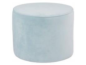 Pouf / repose-pied design 'MOSTRA' en velours bleu clair