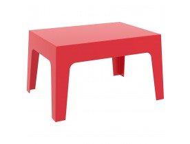 Table basse 'MARTO' rouge en matière plastique