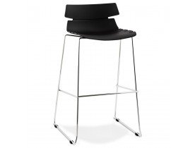 Tabouret haut 'MARY' noir empilable contemporain