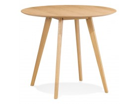 Table de cuisine ronde 'MIDY' finition naturelle style scandinave - ø 90 cm