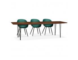 Table à dîner / de réunion extensible 'MOTUS' en bois finition Noyer - 170(270)x100 cm