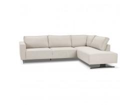 Canapé d'angle design 'MOZART LOUNGE' beige (angle à droite)