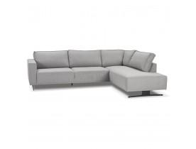 Canapé d'angle design 'MOZART LOUNGE' gris (angle à droite)