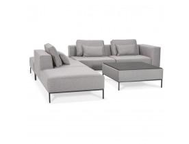 Canapé modulable 'NANY ANGLE' en tissu gris (angle à gauche)