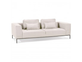 Canapé 3 places 'NANY' en tissu beige - canapé droit moderne