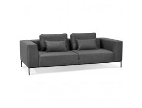 Canapé 3 places 'NANY' en tissu gris foncé - canapé droit moderne