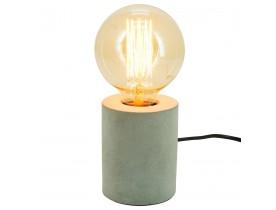 Pied de lampe de table 'NIGRI' gris effet béton