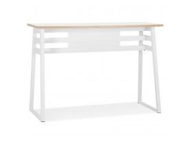 Table de bar haute 'NIKI' bois et métal blanc - 150x60 cm