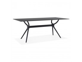 Table de jardin OCEAN design noire - Alterego France