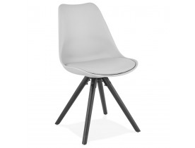 Chaise design 'PIPA' grise