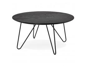 Table basse design PLUTO noire style industriel - Alterego
