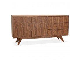 Bahut design 'PORTOBELLO' en bois finition Noyer