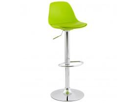 Tabouret réglable 'PRINCES' vert avec haut dossier confortable