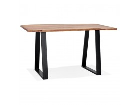 Table de bar haute 'RAFA' en bois massif et métal - 160x90 cm